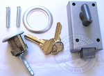 Garage Door Lock Cylinder w/ Thumb Latch (keyed different)